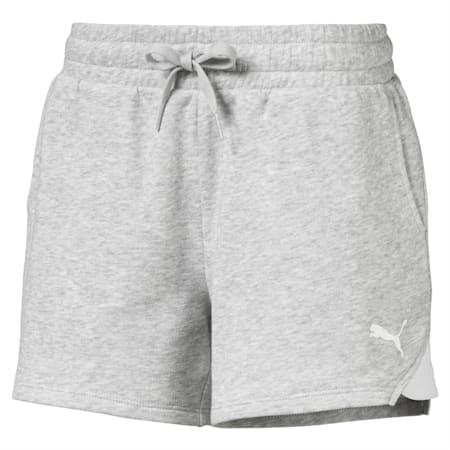 Alpha Girls' Sweat Shorts, Light Gray Heather, small-SEA