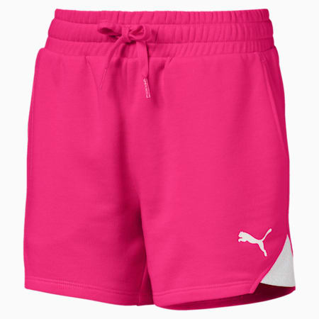 Alpha Girls' Sweat Shorts, Fuchsia Purple, small-SEA