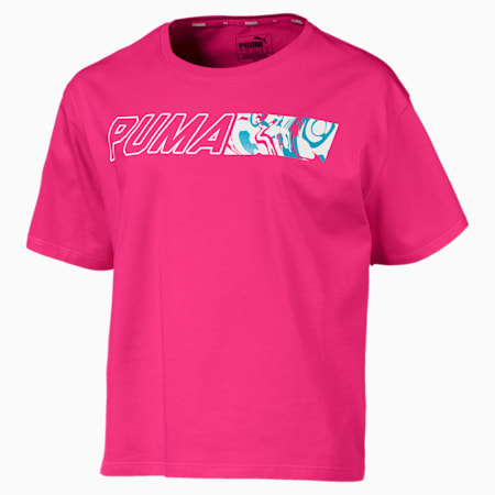 Alpha Graphic T-shirt voor meisjes, Fuchsia Purple, small