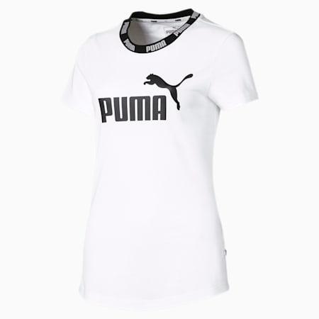 Amplified Women's Tee, Puma White, small-SEA