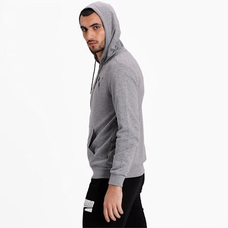 Graphic Hooded Jacket, Medium Gray Heather, small-IND