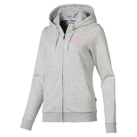 Women's Hooded Jacket, Light Gray Heather, small-IND