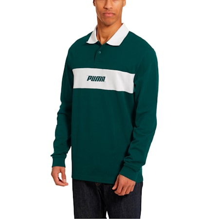 Rebel Men's Long Sleeve Polo, Ponderosa Pine, small