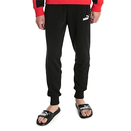 Amplified Men's Sweat Pants, Cotton Black, small-SEA