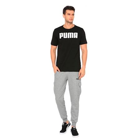 Essentials Men's T-Shirt, Cotton Black, small-IND