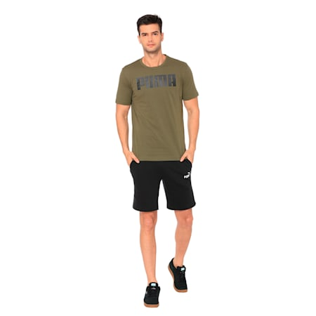 Essentials Men's T-Shirt, Olive Night, small-IND