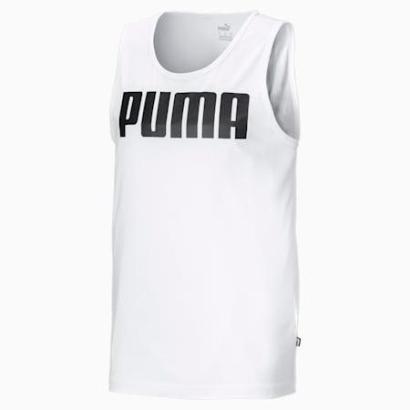 Essentials Men's Tank Top, Puma White, small-GBR