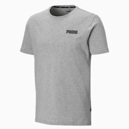 Essentials Small Logo Men's Tee, Medium Gray Heather, small