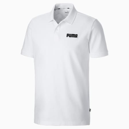 Essentials Piqué Men's Polo, Puma White, small