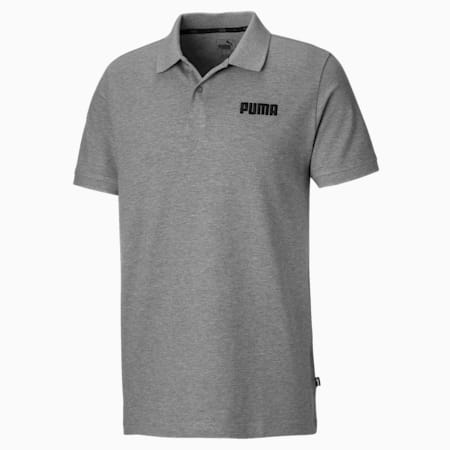 Essentials Piqué Herren Polo, Medium Gray Heather, small
