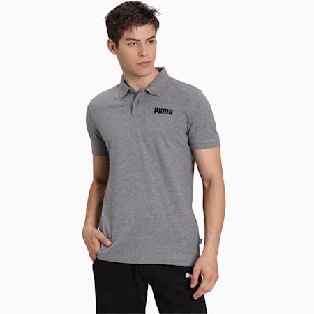 Essentials Piqué Men's Polo, Medium Gray Heather, small-IND