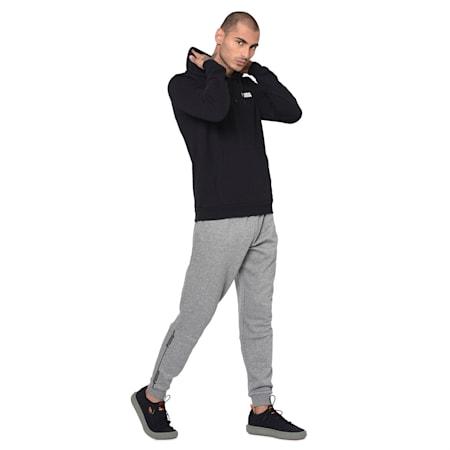 ESS Men's Hoody Sweatshirt, Cotton Black, small-IND
