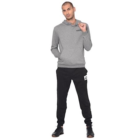 ESS Men's Hoody Sweatshirt, Medium Gray Heather, small-IND