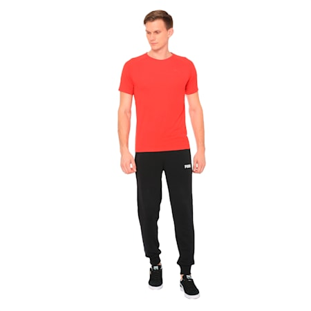 PUMA Essential Knitted Men's Pants, Cotton Black, small-IND