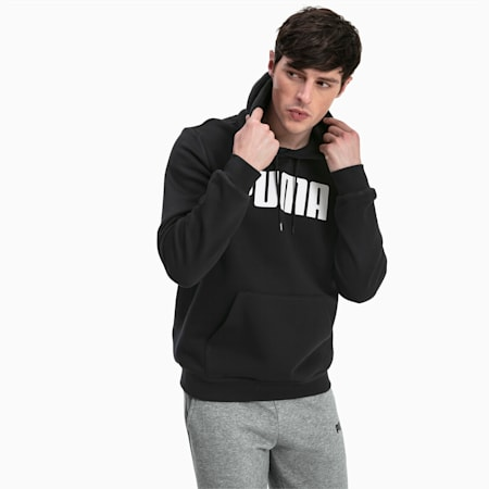 Essentials Fleece Men's Hoodie, Cotton Black, small