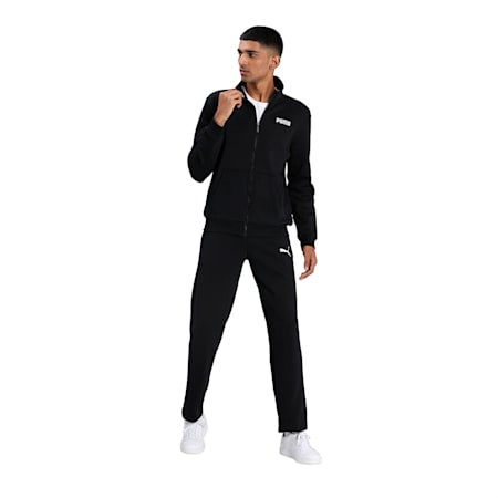 Essential Men's Track Jacket, Cotton Black, small-IND