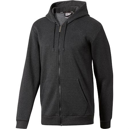 Essential + Full-Zip Hoodie, Dark Gray Heather, small