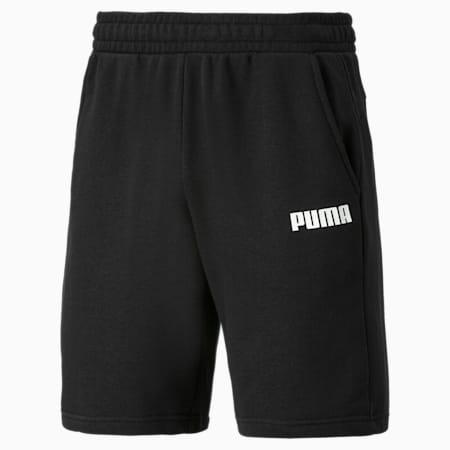 Shorts de punto para hombre Essentials, Cotton Black, small