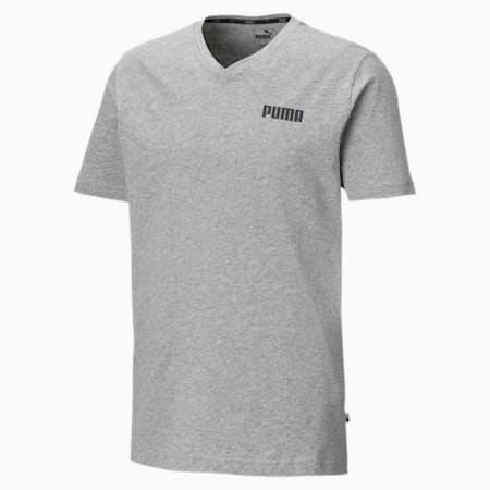 Elevated Essentials V-Neck Men's Tee, Medium Gray Heather, small