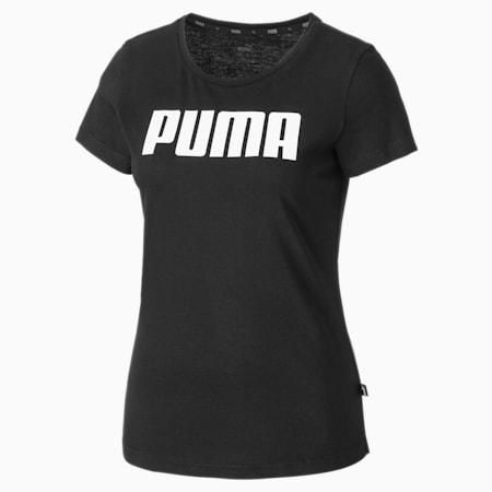 Camisetas para mujer Essentials, Cotton Black, small