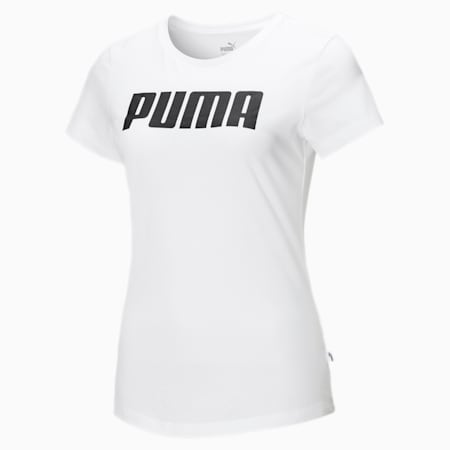 Essentials T-shirt voor dames, Puma White, small
