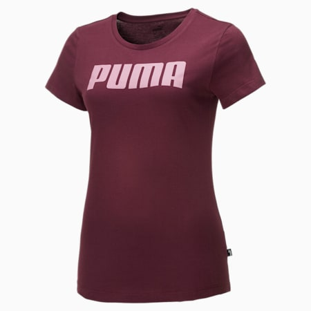 Essentials Damen T-Shirt, Burgundy, small