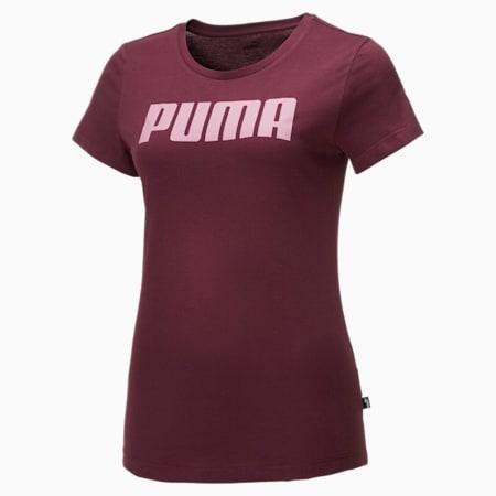 Essentials T-shirt voor dames, Burgundy, small