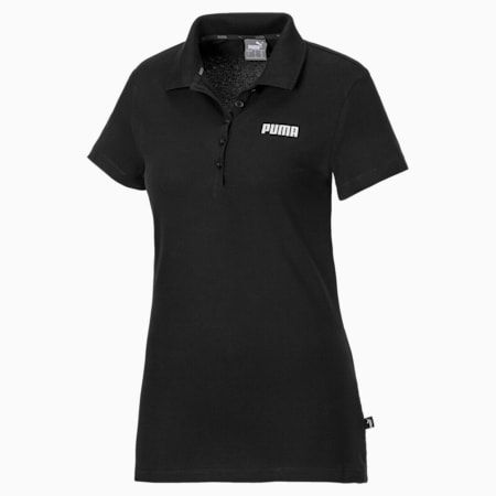 Essentials Women's Polo, Cotton Black, small