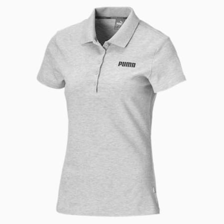 Essentials Women's Polo, Light Gray Heather, small