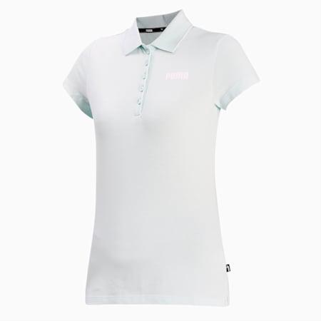 Essentials Women's Piqué Polo, Fair Aqua, small-IND