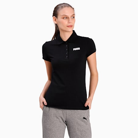 Essentials Women's Piqué Polo, Cotton Black, small-IND