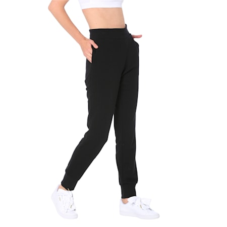 ESS Sweat Pants Closed TR, Cotton Black, small-IND