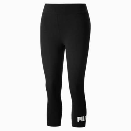 Essentials 3/4 Women's Leggings, Cotton Black, small-SEA