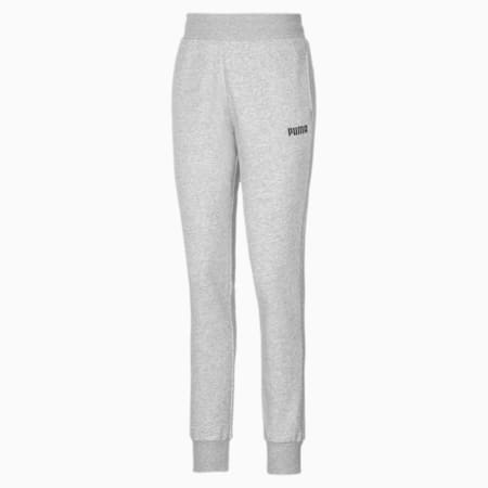 Essentials Cuffed Fleece Women's Sweatpants, Light Gray Heather, small