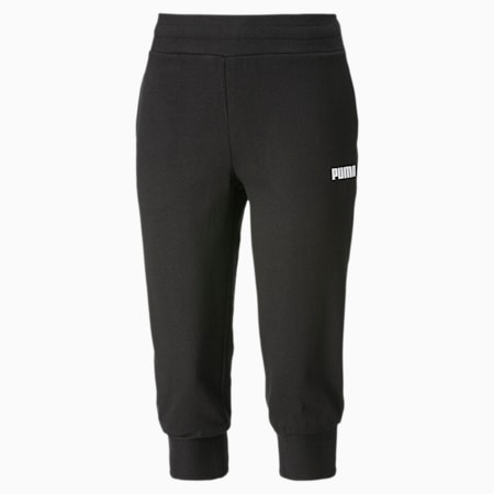Essentials Damen Capri Sweatpants, Cotton Black, small