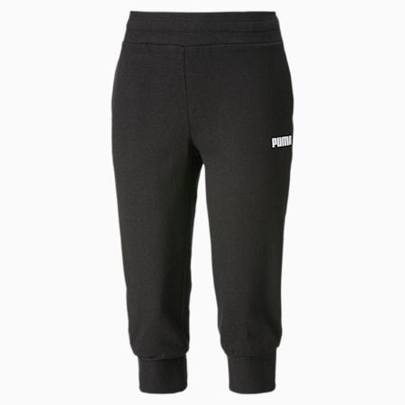 Pantalones deportivos capri para mujer Essentials, Cotton Black, small