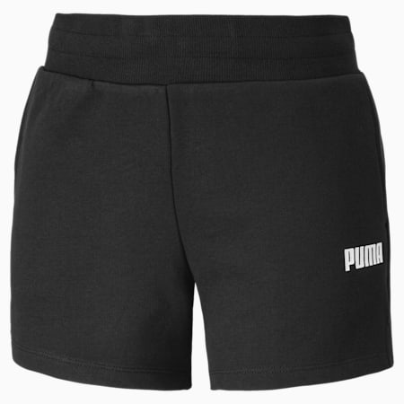 Essentials Knitted Women's Sweat Shorts, Cotton Black, small