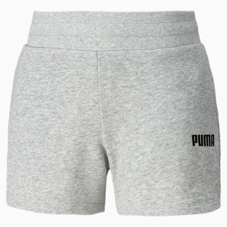 Shorts da ginnastica in maglia Essentials donna, Light Gray Heather, small