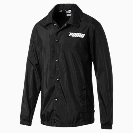 Mens' Rebel Windbreaker Jacket, Puma Black, small-SEA