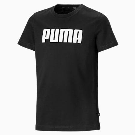 T-Shirt Essentials pour garçon, Cotton Black, small
