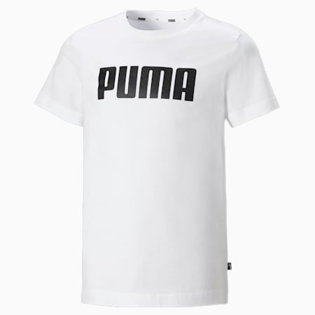 Essentials Boys' Tee, Puma White, small