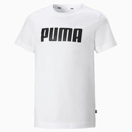 Essentials Boys' Tee, Puma White, small-SEA