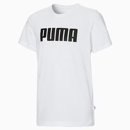 Chłopięcy T-shirt Essentials, Puma White, small