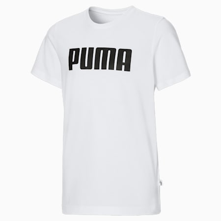 Essentials T-shirt jongens, Puma White, small