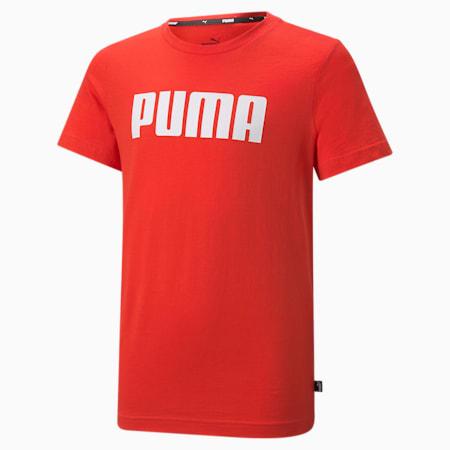 Essentials T-shirt jongens, High Risk Red, small
