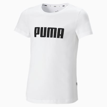 Essentials Girls' Tee, Puma White, small