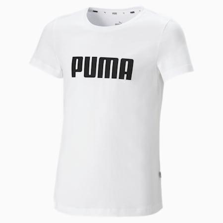 Essentials Mädchen T-Shirt, Puma White, small