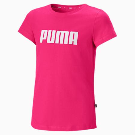 T-shirt Essentials da ragazza, Beetroot Purple, small