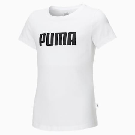 Dziewczęcy T-shirt Essentials, Puma White, small