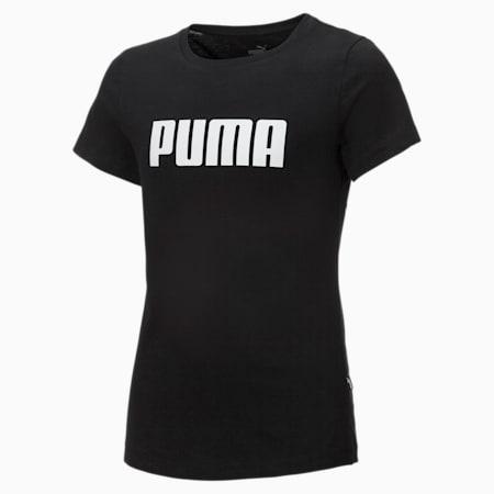 Essentials Girls' Tee, Puma Black, small